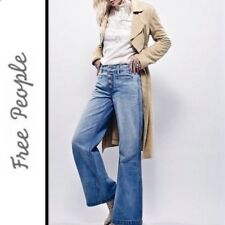 NEW Free People Avendale High Rise Wide Leg Jeans Size 25 28