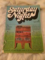 SATURDAY NIGHT MAGAZINE APRIL 1976 VERY RARE
