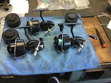 New listing Garcia Mitchell 300 Reels Lot Of 3 Working Reels With Extra Spools And Cases.