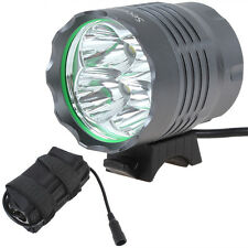 8000Lumens 4 x CREE XM-L T6 LED Bicycle Bike Light Cycling Torch + Battery Pack