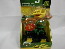 NEW JOHN DEERE MONSTER TREADS TRACTOR WITH DEER HEAD ARMOR NEW IN BOX LP53322