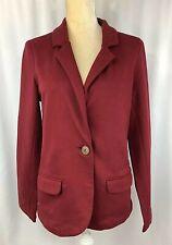 Synergy Organic Clothing Women Blazer Large Jacket 100% Cotton Burgundy New $94