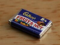 Dolls House Miniatures 1/12th Scale Fruit & Nut Chocolate Bar FD145