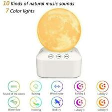 White Noise Sleep Sound Machine Dimmable 7 Color Changing Moon Night Light Sleep