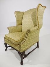 aed82947d962 Classic Style Vintage Deep Wing Back Brass Nail Lounge Chair Eames Era