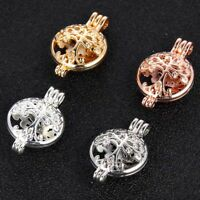 1Pc Gold/Silver Plated Tree Of Life Pearl Cage Beads Locket Pendant Jewelry Gift