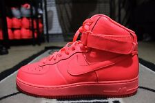 """New Nike iD Air Force One 1 Hi Size 11 Solar Red """"PINK"""""""