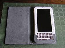"7"" Color Display Literati Wireless eBook Reader SHARPER IMAGE Whitew/Case WORKS"