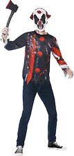 Teen & Older Boys Horror Clown + Mask Halloween Fancy Dress Costume Kit 12yr+