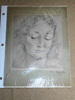 Vintage Hand Drawn Sketches - The Child Mother & Boys - Oma Ruth Foster