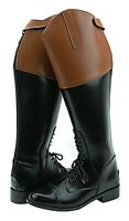 Hispar ROYAL Mens Man Field Fox Hunt Hunting Boots With Back Zipper Tan Top
