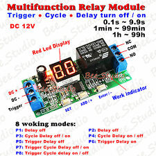 DC 12V Digital LED Infinite Cycle Delay Timer Switch Turn ON/OFF Relay Module