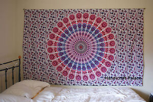 Indian Twin Wall Hanging Tapestries Twin Throw Mandala Hippie Tapestry Bedspread