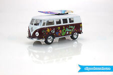 1962 Volkswagen Classical Bus 1:32 scale Die Cast Maroon model Kombi +surfboard