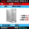 2012 Mac Pro 12-Core 3.46GHz 128GB RAM 1TB PCIe SSD RX 580 WiFi AC USB 3.1