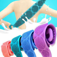 Silicone Back Scrubber Body Cleaning Tools Bath Belt Massage Brush Cleaning Tool