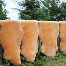 peau de mouton abricot Tondu 100-110 cm tapis d'entrée déco coussins NEUF