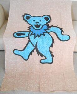 New Large Grateful Dead Huge Blue Dancing Bear Wall Art Decor Tapestry 52X80 NIP