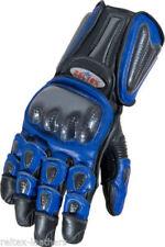Guanti blu impermeabili per motociclista