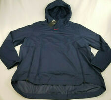 new NIKE men jacket hooded football pullover full zip AO5973-421 navy XXL $95