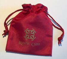 1 - Rustic Cuff Red w/ Teal inside BRACELET JEWELRY Storage FABRIC GIFT BAG #26