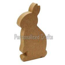 Free Standing Wooden MDF Rabbit Shape 150mm High
