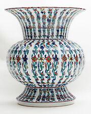 Collectible China Famille Rose Ribbed Jingdezhen Porcelain Vase