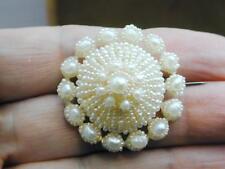Spectacular Georgian Natural Seed Pearl Woven Pin Brooch Wedding
