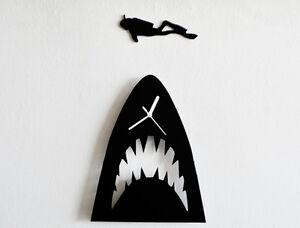 Jaws Minimalist Film Silhouette - Wall Clock
