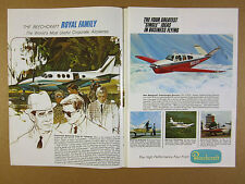 1967 Beechcraft ALL 16 Models king queen air baron h18 bonanza vintage print Ad