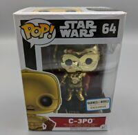 🔥Funko POP! Star Wars #64 C-3PO CHROME METALLIC Barnes Noble Exclusive Vaulted