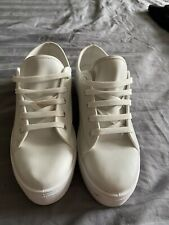 White Platform Ladies sneakers/trainers size 8