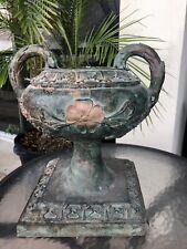 New ListingTrue Antique Cast Bronze Urn Garden Planter Jardiniere Ornate Heavy Estate Find