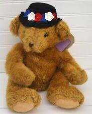 NWT HAMLEY'S of London Brown Plush Bear Flower Hat NEW