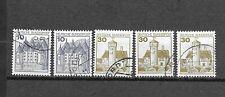 3321 - Bund - 5  Rollenmarken  Mi-Nr.  913  +  914      gestempelt