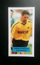 ITALY - INTER - ROBERTO BAGGIO Score UK football trade card
