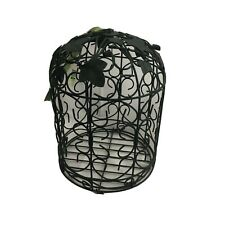 Herco Iron Art  Green Ivy Wrought Iron Bird House Cage