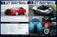 Prospectus brochure 2012 Ford mustang shelby gt500 Super Snake (USA)