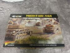 BOLT ACTION Tedesco Panzer IV Ausf. F1/G/H SERBATOIO-Plastica-NUOVO