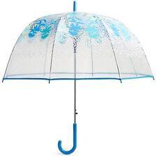 VERA BRADLEY Auto Open Bubble Umbrella CAMOFLORAL CHEETAH Blue Travel Rainy Day