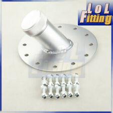 45 Degree Aluminum Fuel Cell Fast Fill Filler Neck Cap 12 Bolt Flange Silver