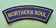 MOD SKA SCOOTER SEW ON / IRON ON PATCH:- NORTHERN SOUL (a) SHOULDER BANNER