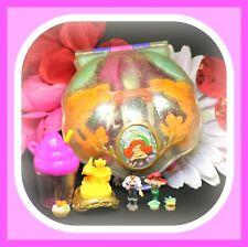 ❤️Polly Pocket Vtg 1996 DISNEY The Little Mermaid Ariel Compact DOLLS Bluebird❤️