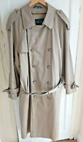 Ralph Lauren Men's Camel Trench Mac Coat Size 46 L Thinsulate Removable Lining
