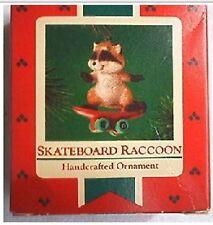 Hallmark Ornaments Skateboard Raccoon Treetop Squirrel 1985 1987 Lot of 2