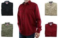 Wrangler Premium Comfort FLEX Men's Shirt Long Sleeve Twill-Denim Button Down