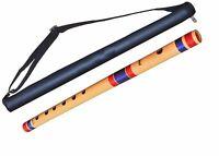 Flutes G Scale Natural Bamboo Flute Bansuri 17 inches, Medium AU