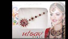 Bindi tika long bijou de peau pour mariage front strass rubis FS13Q 3107