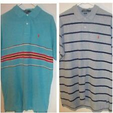 Lot of 2 Men's Size Large Polo Ralph Lauren Short Sleeve Shirts Rugby Style