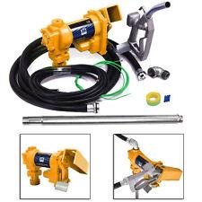 Gasoline Fuel Transfer Pump 12 Volt DC 20GPM Gas Diesel Kerosene Nozzle Kit